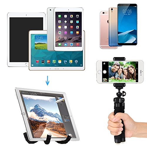 Phone Tripod Phone Stand with Bluetooth Camera Remote and