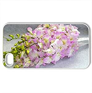 Pink bouquet - Case Cover for iPhone 4 and 4s (Flowers Series, Watercolor style, White)