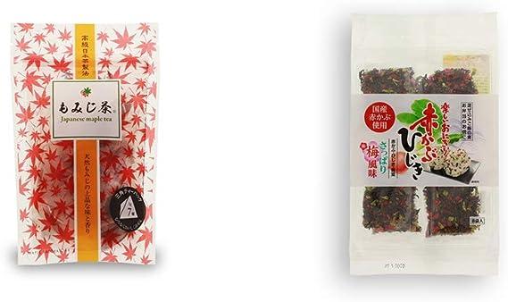 [2点セット] もみじ茶(7パック入)・楽しいおにぎり 赤かぶひじき(8g×8袋)