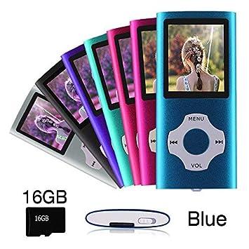 Ueleknight Reproductor MP3 MP4 con Tarjeta Micro SD de 16 G ...