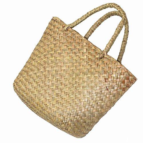 Model Worker Women's Classic Straw Summer Beach Sea Shoulder Bag Handbag Tote(Small)