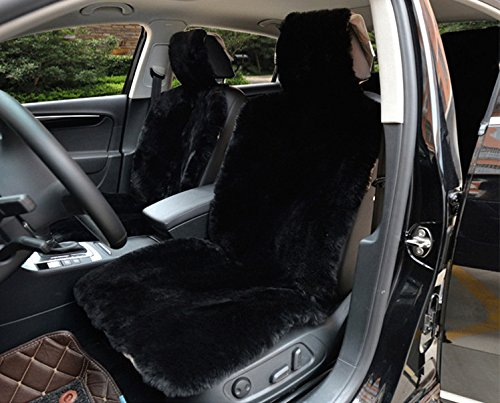 fluffy black car seat covers - 8