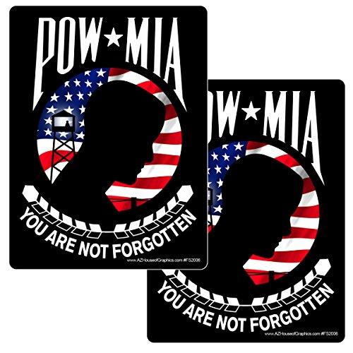 Pow Mia Window Decals (POW MIA 2 Pack Sticker - 5