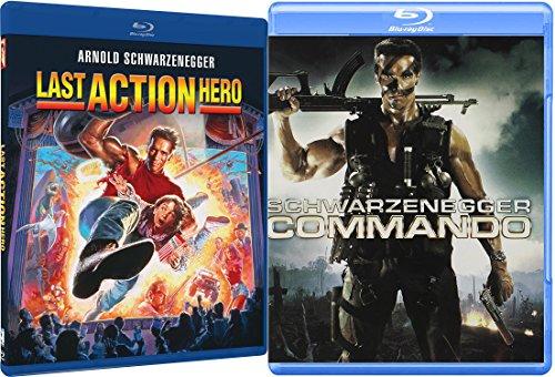 Commando + Last Action Hero Blu Ray Arnold Schwarzenegger classic Double Feature Movie Set