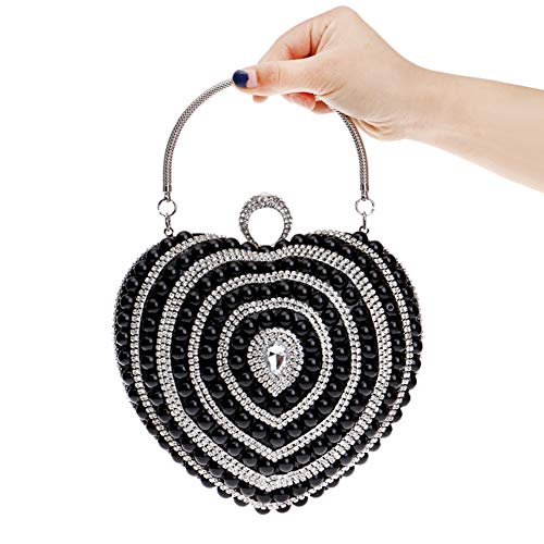 Bag Bags Purses Wallet PU Ladies Evening Dress Chain Wedding Black Womens Clutches 1Bq6Rdxw1