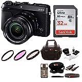 Fujifilm X-E3 Mirrorless Camera w/XF18-55mm Lens Kit (Black) & Focus Camera Gadget Bag