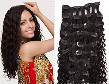 Amazon clip in human hair extensions brazilian virgin hair clip in human hair extensions brazilian virgin hair weave bundles curly hair weft natural color pmusecretfo Images