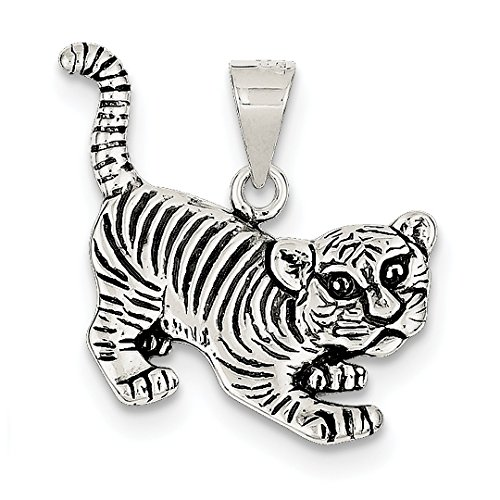 ICE CARATS 925 Sterling Silver Tiger Pendant Charm Necklace Animal Lion Fine Jewelry Ideal Gifts For Women Gift Set From (925 Sterling Silver Tiger)
