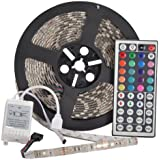YHG 12v Flexible RGB LED Strip Light, LED Tape, Multi-colored, 300 Units 5050 Leds, waterproof, Adhesive Light Strips,m by YHG