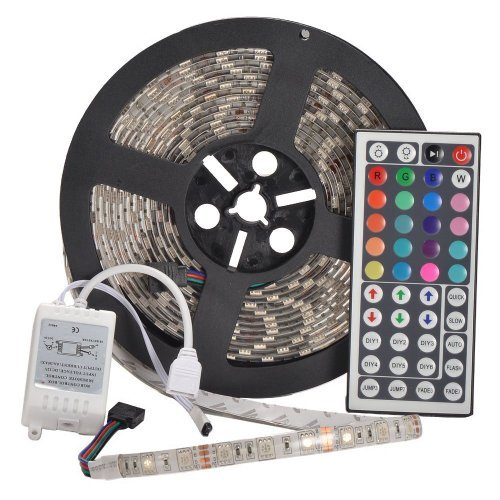 YHG 12v Flexible RGB LED Strip Light, LED Tape, Multi-colored, 300 Units 5050 Leds, waterproof, Adhesive Light Strips, Pack of 5m - 12 Volt Christmas Lights