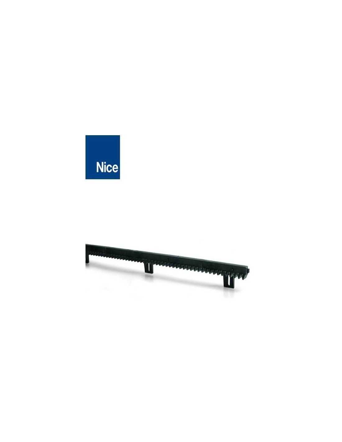 NICE ROA6 Cr/émaill/ère M4 25*20*1000 mm perforations nylon et insert m/étallique NICE