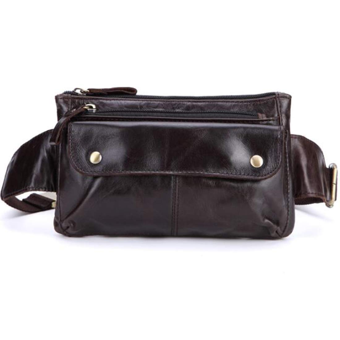 Color : Black b RABILTY Body Bag Waist Bag West Pouch 2way Mens Multifunction Cow Leather Made