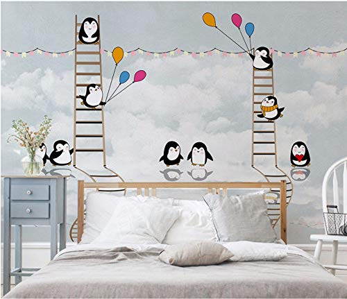 Mbwlkj Custom Wall Mural Large Wall Painting Modern 3D Hand-Painted Antarctic Penguin Living Room Tv Backdrop Wallpaper-150cmx100cm
