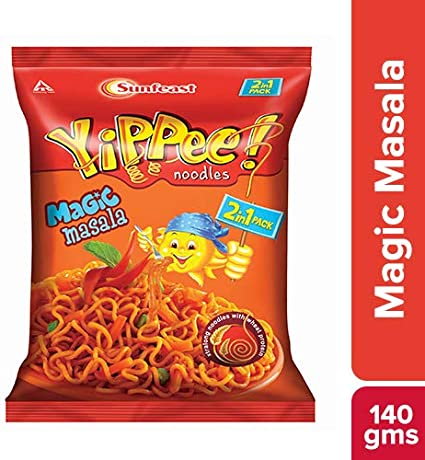Yippee Magic Masala Noodles 2 in 1 Pack, 140g