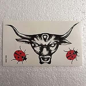Funnyrunstore Impermeable, dominante, cabeza de toro, tatuaje ...