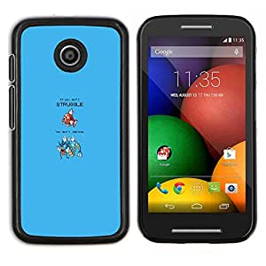 LECELL--Funda protectora / Cubierta / Piel For Motorola Moto E -- Divertido Magikarp Lucha --