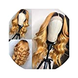Honey Blonde Human Hair Wig With Baby Hair Pre Plucked Glueless Lace Front Wig wavy Remy Hair 180 Density Lace wigs The rest of my life,10inches,180%,13x3 lace front wig