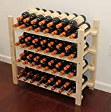 Cheap Stackable 60 Bottle Capacity Wine Rack Wooden Stand, WN60 (60 Bottles Capacity:4 rows)
