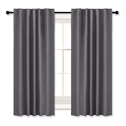 RYB HOME Bedroom/Nursery Blackout Curtains Grey (42u0026quot; W By 54u0026quot; L