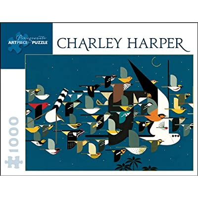 Charley Harper: Mystery of the Missing Migrants: 1000 Piece Jigsaw Puzzle (Pomegranate Artpiece Puzzle): Charley Harper: Toys & Games