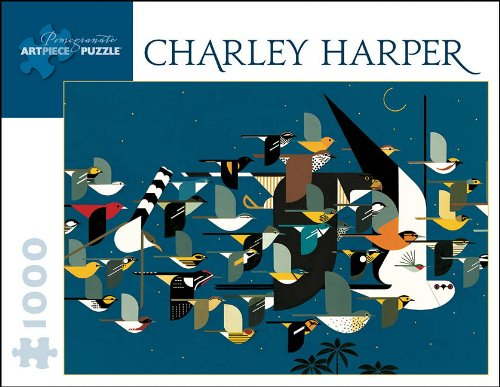 Charley Harper: Mystery of the Missing Migrants: 1000 Piece Jigsaw Puzzle (Pomegranate Artpiece Puzzle)
