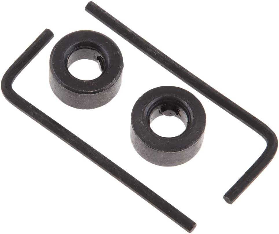 3mm Black Hex Wrench Woodworking Drill Depth Stop Collars Ring Dowel Shaft Chuck