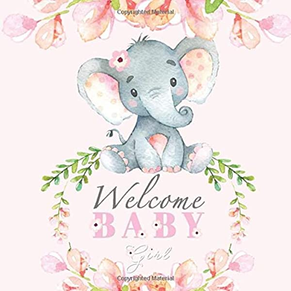 10 Pink Elephant Sticker Embellishments Baby Shower Baby Girl Aussie Seller