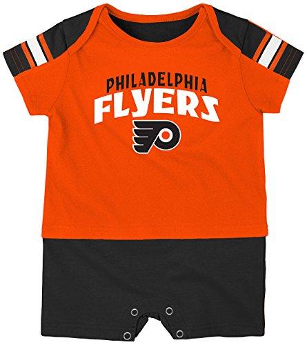 NHL Philadelphia Flyers Boys Newborn & Infant 'Little Brawler' Jersey Romper, Varsity Orange, 3-6 Months