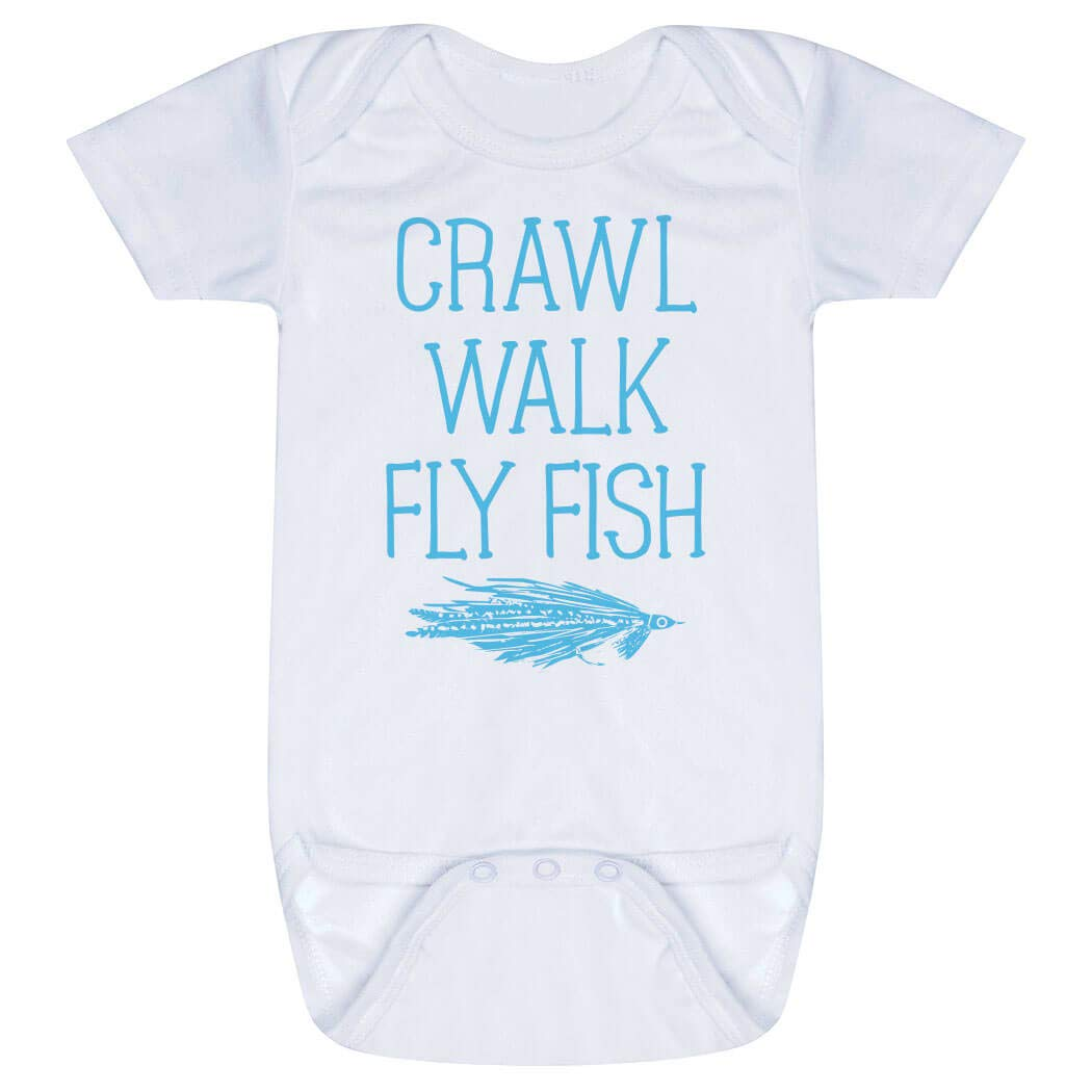 Fish Gift Fishing Baby Fisherman Baby Crawl Walk Fish Baby Bodysuit