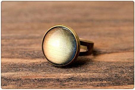 ムーングローリング、調節可能なリング、真鍮リング、光沢のあるリング、声明リング、月光リング、アンティークブロンズリング、彼女のための宝石類のギフト