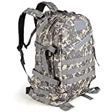 Koolertron Outdoor 40L 600D Waterproof Oxford Cloth Military Rucksack Tactical Backpack Bag ACU Camouflage Sports Travelling Hiking Bag (ACU) Review