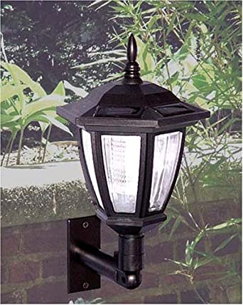antique wall mounted solar light 2 pack includes ground stake landscape lighting. Black Bedroom Furniture Sets. Home Design Ideas