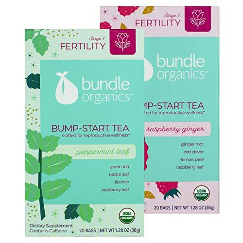Bundle Organics Bump-Start Tea, Stage 1 Fertility, Variety Pack, 20 Tea Bags in Each Box (Pack of 2)