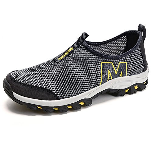 Men's Mesh Athletic Shoes – Perfect For Cycling, Mountain Climbing & Casual Walking F1081-44Gy by MOZOEYU