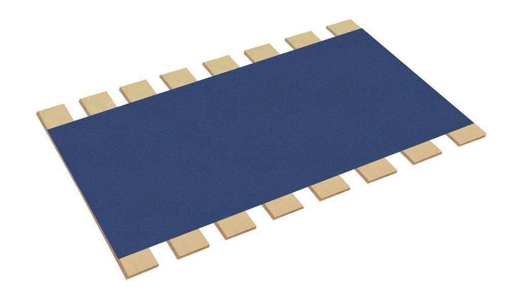 The Furniture Cove Twin Size Bed Slats Boards Wood Foundation Royal Blue Canvas Fabric-Help Support Your Box Spring Mattress-Made in the U.S.A.! (41'' Wide) by The Furniture Cove