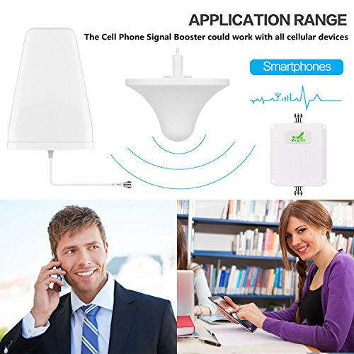 Mingcoll Cellphone Signal Booster 2G 3G 4G LTE T-mobile AT&T Verizon Wireless Network Booster Dual Band Amplifier GSM CDMA 850mhz AWS 1700mhz with Indoor Ceiling Outdoor LDPA Antenna for Home Office by Mingcoll (Image #3)