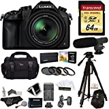 Panasonic Lumix DMC-FZ1000 4K QFHD/HD 16X Long Zoom Digital Camera (Black) + Transcend 64 GB UH3 SD Card + 72 inch Tripod + Filters + Spare Battery + Camera Bag + Accessory Bundle