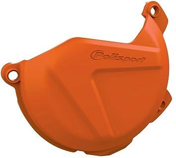 POLISPORT - 59338/54 : Protector tapa de embrague naranja 8447700002: Amazon.es: Coche y moto