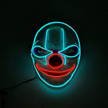 Máscara LED Light Up Mask Máscaras de Halloween Máscara de ...