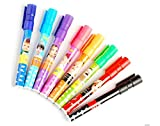 Kabeer Art Set Of 8 Assorted Colors Easy-To-Wipe Dry-Erase Drawing Coloring Whiteboard Marker Pens