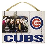 MLB Chicago Cubs Weathered Logo Clip-It Photo Frame