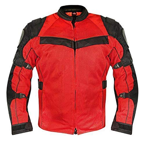 (Xelement XS8161 'All Season' Men's Black/Red Tri-Tex/Mesh Jacket - 2X-Large)