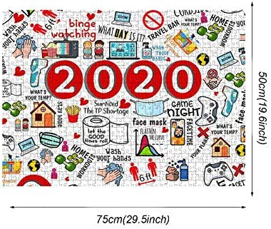 2020 Events Commemoration Jigsaw Puzzle for Adults Kids 1000 Pieces Best for Family Stress Relief Game Play Collection