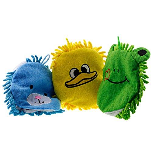 Microfibra Animal baño lavado manoplas títere pato amarillo oso azul rana verde bebé niño niño niña desarrollo aprendizaje niño peluche Navidad regalo media embutidora