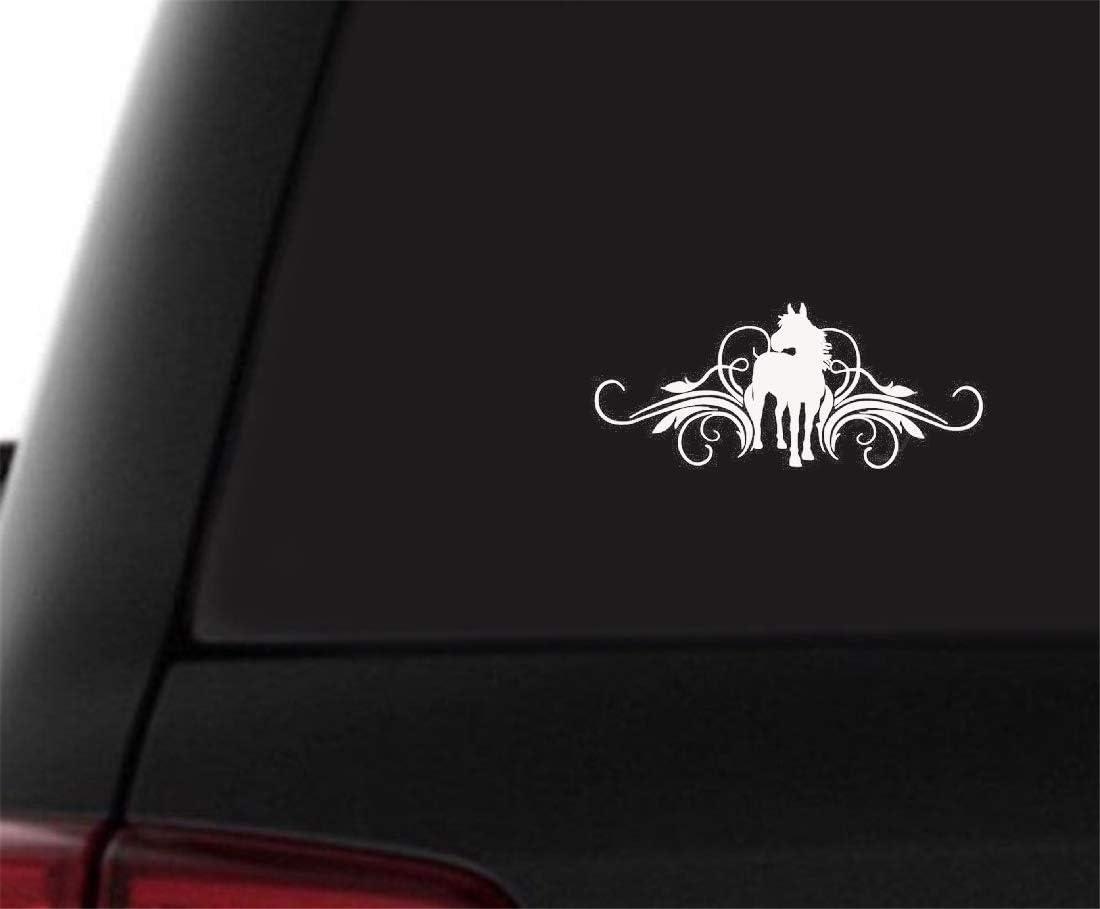 Desplazamiento y etiqueta engomada del coche del caballo Pared Hogar Ventana de vidrio Puerta Laptop Truck Bumper Van Decoración Calcomanía para el coche laptop etiqueta de la ventana