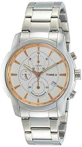 Timex E Class Analog Silver Dial Men #39;s Watch TW000Y501