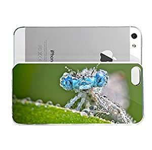 iPhone 5&5S cover case Animals Dragonfly Water Drops