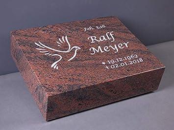 Grabsteine Inschrift und Ornament inkl Liegestein