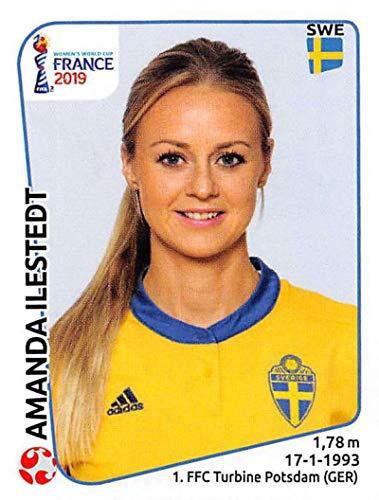 Amanda Cup - 2019 Panini FIFA Women's World Cup France Sticker #470 Amanda Ilestedt Sweden Mini (Small) Sticker Trading Card