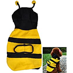 Jocestyle Cute Bumblebee Dog Cat Pet Custome Party Holiday Apparel Clothes Bumble Bee